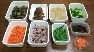 2016/5/8常備菜(茄子と豚肉の揚げ浸し、さばの竜田揚げ、など)