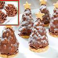 チョコフレークの松ぼっくりとクリスマスツリーチョコレートの作り方