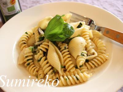 >小松菜とバジルのパスタ  by スミレコさん