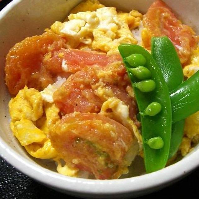 トマトと玉子の中華炒め丼