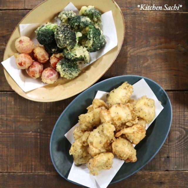 『魔法の天ぷら粉』で天ぷら3種♡【#簡単レシピ#天ぷら】