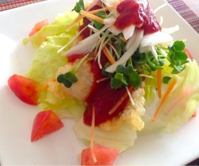 太刀魚deスイートチリケチャサラダ