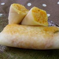 キムチご飯とチーズの春巻き
