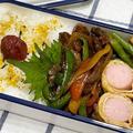 【お弁当】お弁当作り/bento/青椒肉絲《アラフィフ旦那弁当》