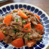 【ぐんまクッキングアンバサダー】群馬県産トマトと牛肉の和風炒め