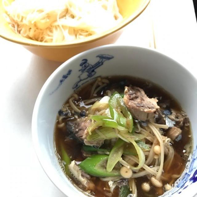 【麺レシピ】鯖缶で簡単☆和風つけ麺☆暖かくなってきたので、アツアツからつけ麺へ