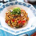 かにかまとなすのオートミールチャーハン【節約ダイエット炒飯】|レシピ・作り方
