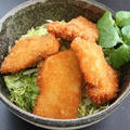 お刺身リメイク☆お魚タレカツ丼
