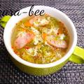 【静岡クッキングアンバサダー】寒い日にはコレ♪体ぽかぽか!グリーンリーフたっぷり中華卵スープ by からあげビールさん