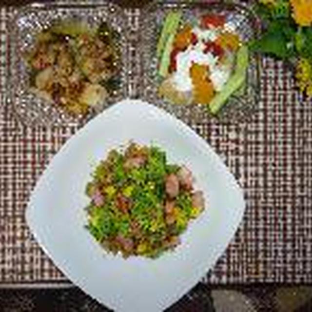 菜の花とベーコンの炒めご飯