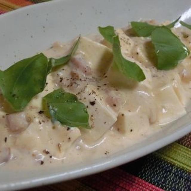 豆乳と柚子胡椒で大人シチュー風♪ イタリアン麻婆豆腐