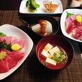 まぐろ4種の海鮮丼で味の違いがわかるよね♪~♪