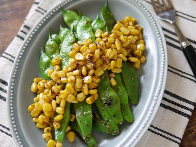 >夏野菜をおいしく|さっと1品|副菜|おつまみ|お弁当|付け合わせに|簡単|【モロッコインゲンとコーンのガーリックソテー】 by SHIMAさん