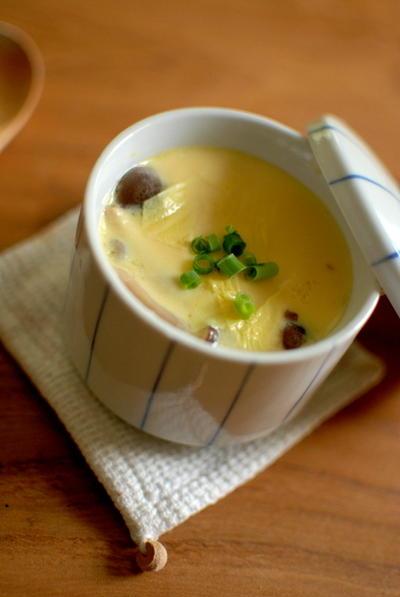 湯葉とチーズの茶碗蒸し
