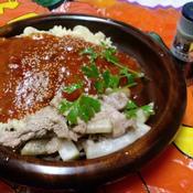 豚肉と大根のカルダモン風味 ミートソースを添えて