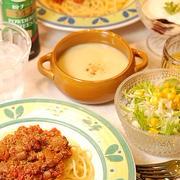 580円*洋食屋さんのミートソーススパゲッティ定食