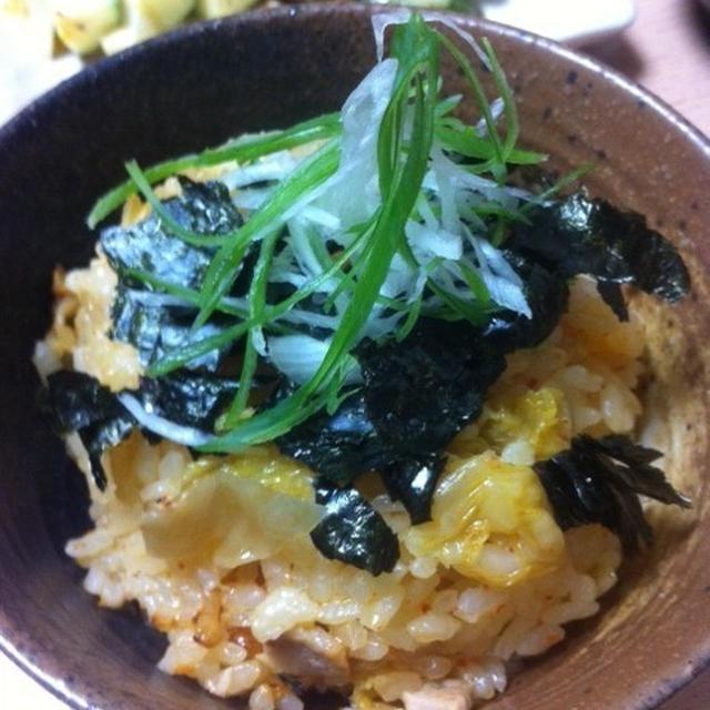 韓国農協キムチで☆豚キムチの炊き込みご飯
