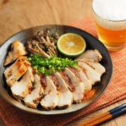 鶏むね肉の塩昆布カボス焼き、作り方動画