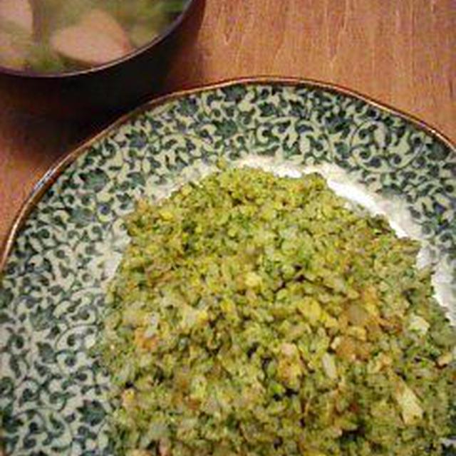 [一皿でお腹いっぱい]ほうれん草チャーハン