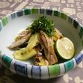 秋刀魚と焼き茄子の和え物