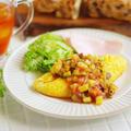 レンジでつくるラタトゥイユソースで!野菜たっぷりの朝ベジオムレツ
