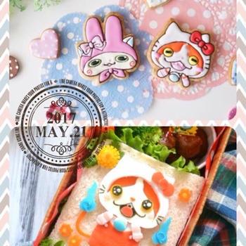 【コラボ】*キティ♡ニャン&コマ♡メロディのアイシングクッキー*