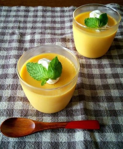 【レンジで簡単☆】お豆腐かぼちゃプリン♪卵不使用*