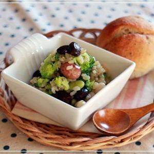 玄米とお豆のさっぱりサラダ、梅風味