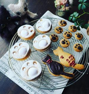 今日は猫の日♪ぷにぷにサックサク~な肉球クッキー♪