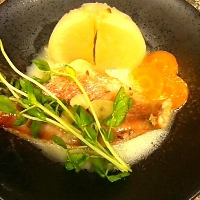 赤魚とかぶのスパイスクリーム煮