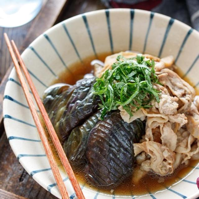 豚バラなすの甘辛うま煮【#簡単 #なすの変色防止 #煮込みは6分 #主菜】
