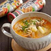 旨辛!味噌バターにんにくスープ