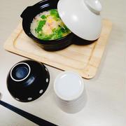 【母の事…(T_T)…おでん&鷄皮ポン酢&パンサラダ&カニカマ水菜卵雑炊】