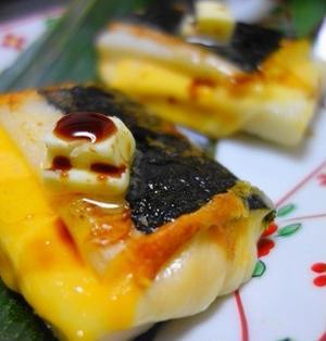 チーズ海苔餅♪バター醤油でたまらないおいしさ