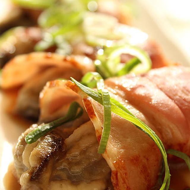 牡蠣のベーコン巻きバター焼き