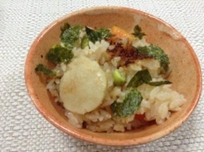 自分でむいた「生ほたて」炊き込みご飯(レシピ)