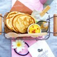 かぼちゃとクリームチーズのメープルスプレッドパンケーキ♪