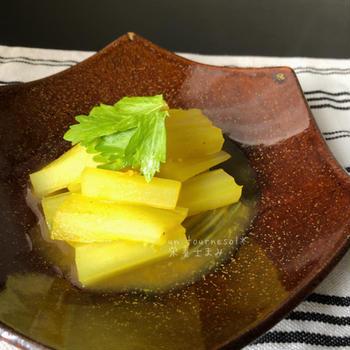 冷え性緩和でコレステロール低下‼︎セロリカレー煮浸し♡レシピ