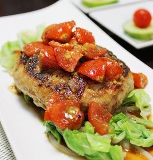 ~肉好きもダマせる❤豆腐ハンバーグうま辛トマトソース~