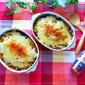 スパイスアンバサダー♪レンジとトースターで!冷凍かぼちゃとウィンナーのGABANパプリカ<パウダー>チーズ焼き