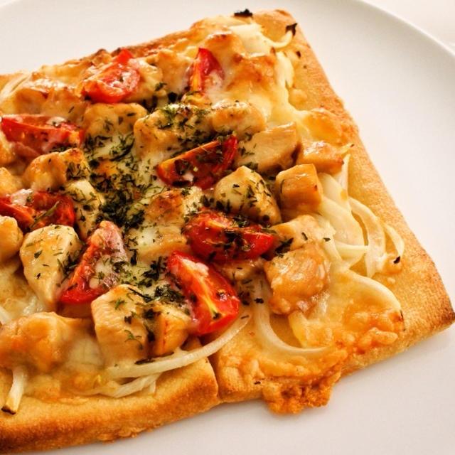 油揚げの照り焼きチキンピザ