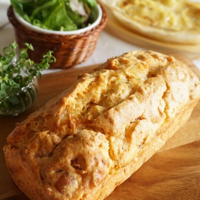 チーズとハムのケークサレ