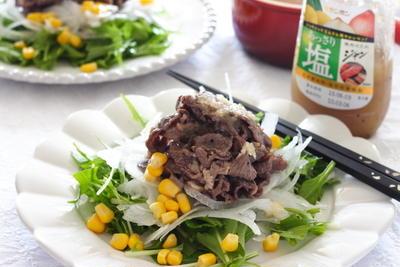 塩ジャンで牛肉のマリネサラダ