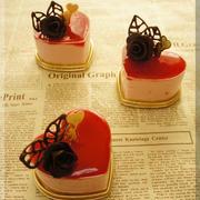 バレンタイン ❤ ハートのピンク・チーズケーキ♪