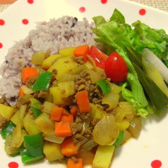 挽き肉と野菜のサブジ♪