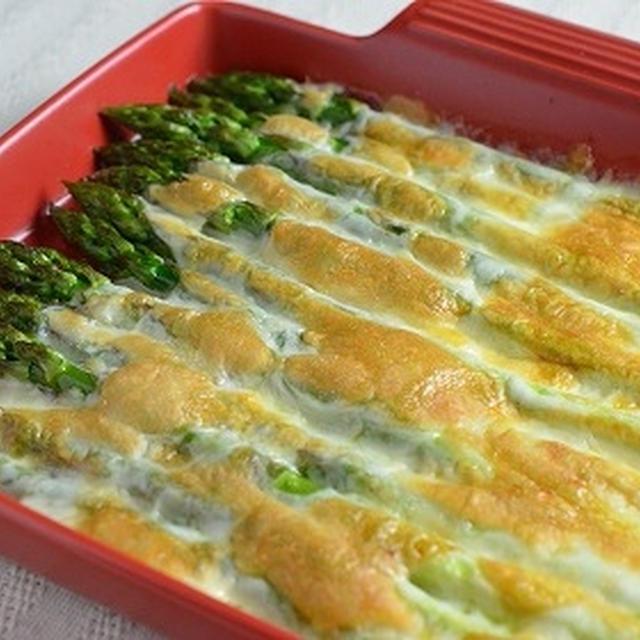 <5分でできる!野菜のおかず>グリーンアスパラガスのモッツァレラチーズ焼き