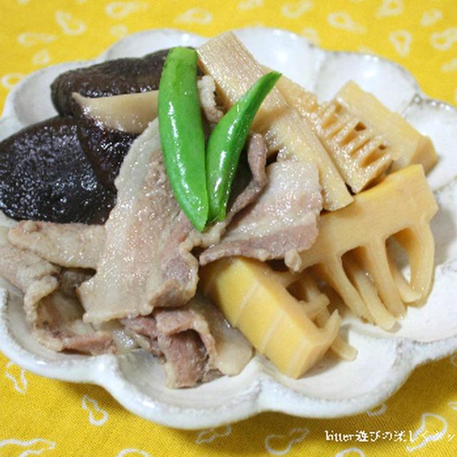 生姜がアクセント♪筍と豚バラ肉の旨煮
