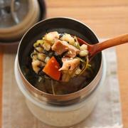 食物繊維たっぷり!簡単「鶏ごまひじきごはん」スープジャー弁当
