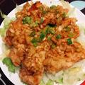 野菜もたっぷり食べれる!鶏むね肉でサクサクジューシー油淋鶏 #新玉ねぎ