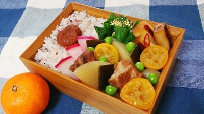 2015/2/16大根と豚肉と金柑の煮物弁当